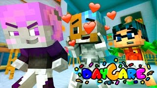 TITANS GO Daycare! Cyborg and Jinx Fall in LOVE! (Minecraft Baby Roleplay) Baby Titans
