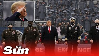 President Trump does coin toss at Army-Navy football game