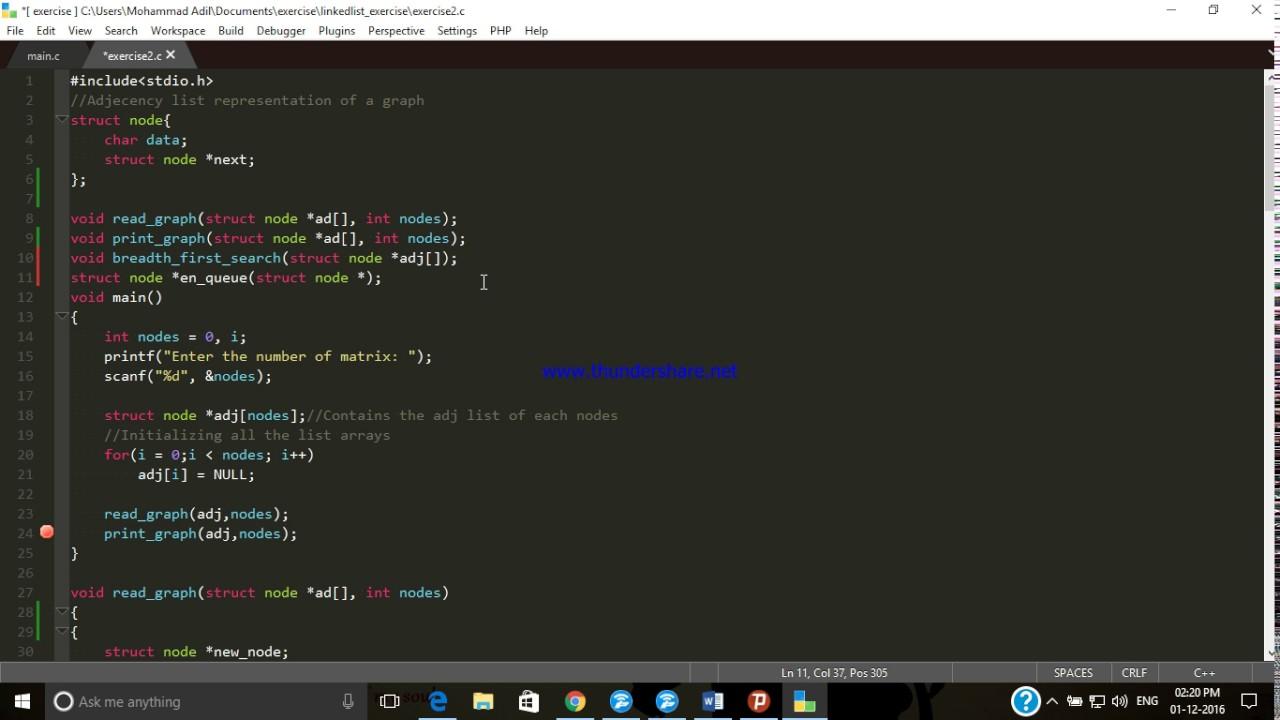 Queue with LinkedList in C