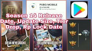 Season 14 Pubg Mobile Release Date & Update Size | Season 14 Tier Rank Drop/Tier Reset Pubg Mobile