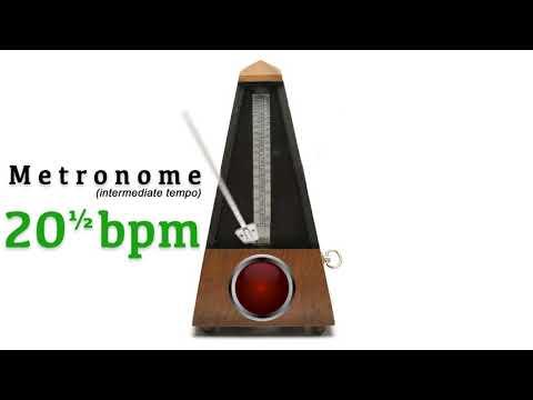Metronome 20.5 bpm 🎼 ᴵᴺᵀᴱᴿᴹᴱᴰᴵᴬᵀᴱ ᵀᴱᴹᴾᴼ (twenty and a half beat per minute)