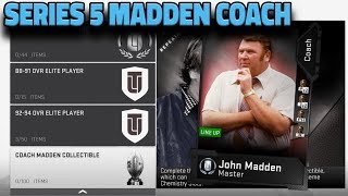 SERIES 5 JOHN MADDEN COACH IS HOME   MADDEN 19 ULTIMATE TEAM