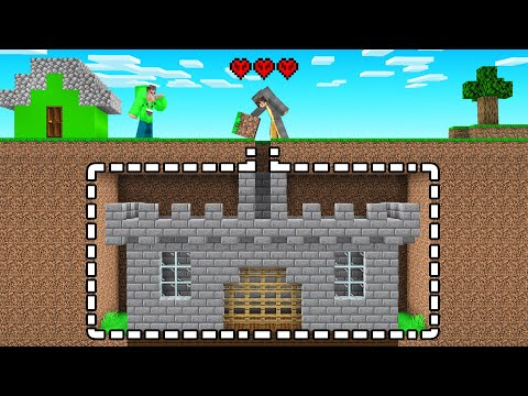 I Built A SECRET CASTLE On Jelly's HARDCORE Troll Server! (Minecraft)