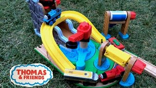 Thomas And Friends Wooden Toy Trains James, Skarloey, Edward On A Wooden Setting
