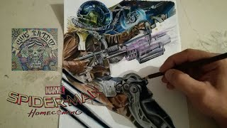 COMO DIBUJAR AL BUITRE - SPIDERMAN HOME COMING / how to draw vulture - soiderman home coming