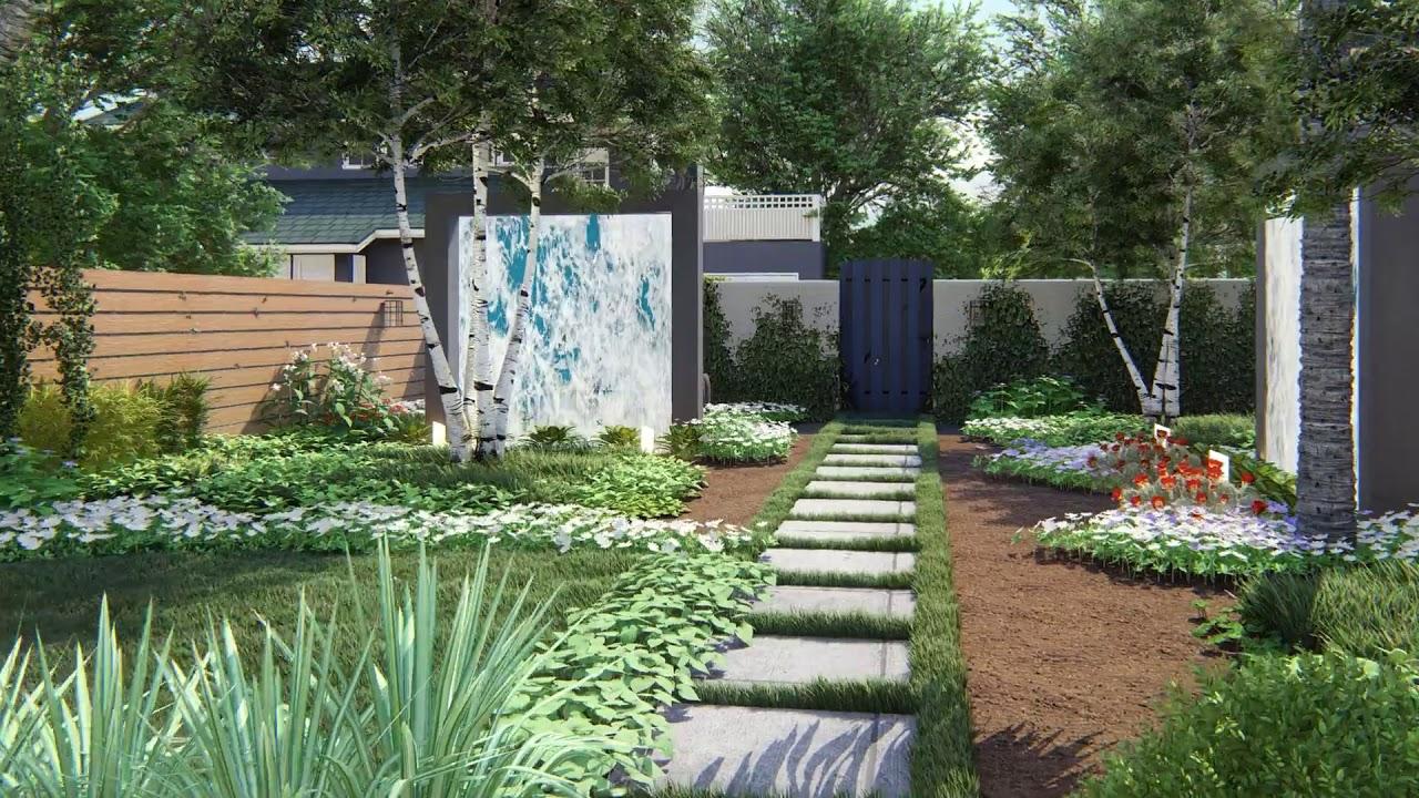 Amazing Garden Design   Lumion 10   Sketchup - YouTube