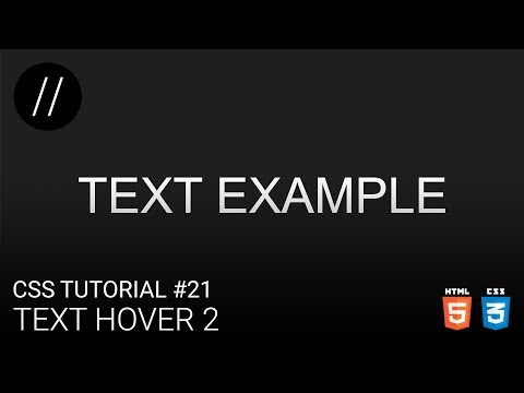 CSS Tutorial #21 — Text Hover 2 [UP/TO/DATE] thumbnail
