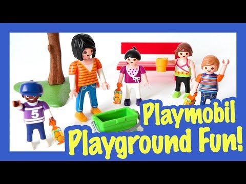 Fun with the Playmobil Children's Playground -  A Fun Day at the Park!