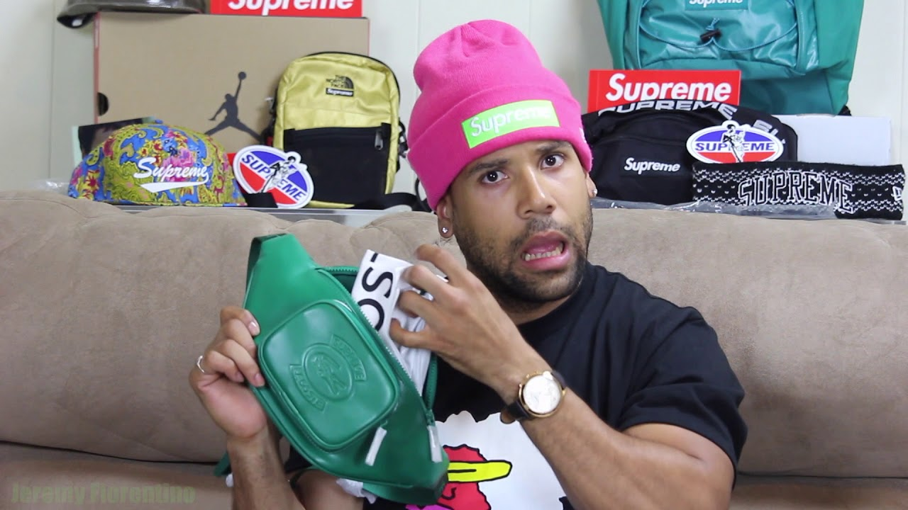 359e533a37d2 SUPREME SS18 WAIST BAG WEEK 9 LACOSTE COLAB - YouTube