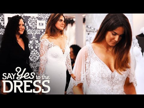 Bride Tries on a Wedding Dress With a Cape! | Say Yes To The Dress UK