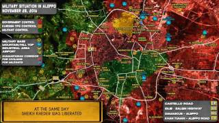 Как сирийские войска освобождали районы Алеппо: с 17 ноября по 2 декабря 2016. Русский перевод.