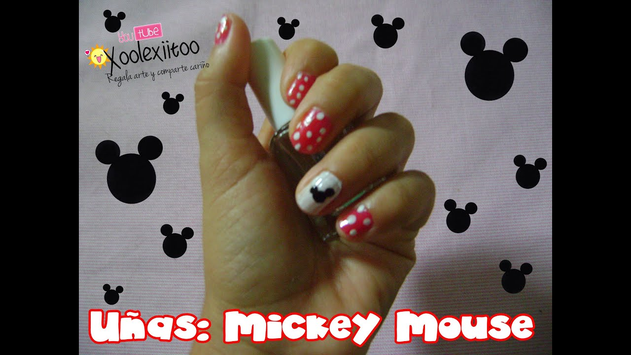 xoOlexiitOo... ❥DIY Uñas tipo: Mickey Mouse - YouTube