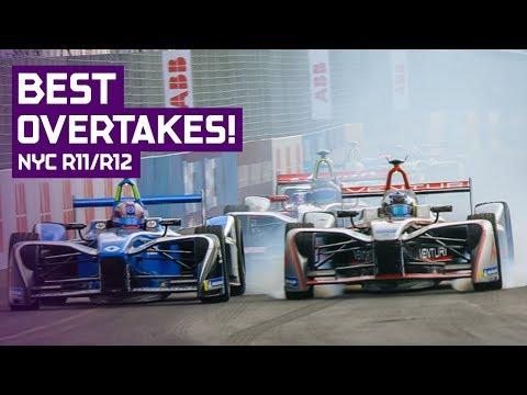 Best Overtakes Compilation NYC! | Round 11 & 12 - 2018 Qatar Airways New York City E-Prix
