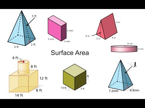 Surface Area of Three Dimensional Figures, Composite Solids, and Missing Dimensions