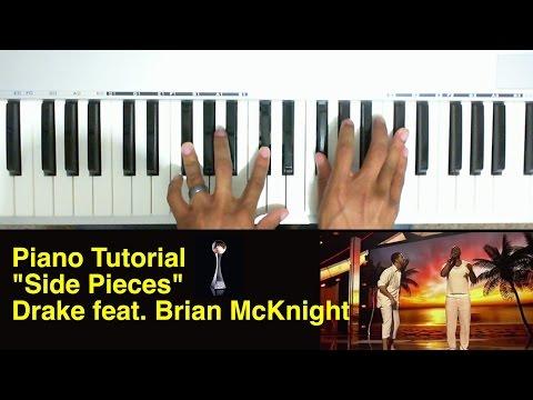 Side Pieces piano tutorial - Drake feat Brian McKnight (2014 ESPYS)