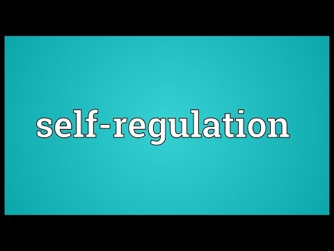 Self-regulation Meaning