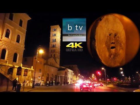 La Bocca della Verità (the Mouth of Truth) Santa Maria in Cosmedin 4K