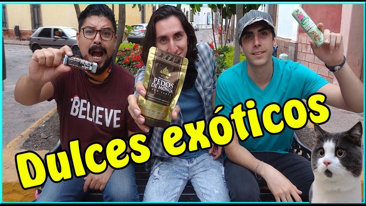 Probando dulces EXOTICOS ft la madriguera de julius