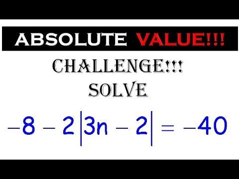 25 Solving Absolute Value Equations Al2 Algebra 2 Al2abs3 12 Youtube
