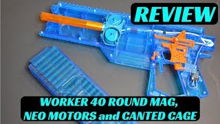 [REVIEW] WORKER DOMINATOR 40 Round Mag, Worker Neodymium Motors and Gen 3 Canted Cage Testing!