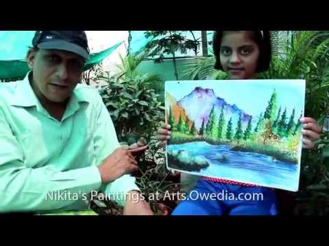 Watercolor Landscape Paintings Deaf and Dumb Child Artist Nikita