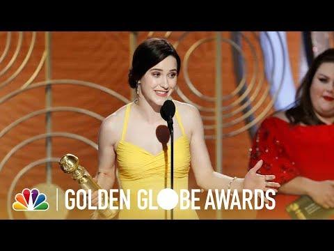 Rachel Brosnahan Wins Best TV Actress, Comedy - 2019 Golden Globes (Highlight)