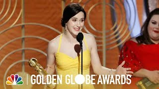Rachel Brosnahan Wins Best TV Actress, Comedy - 2019 Golden Globes (Highlight)