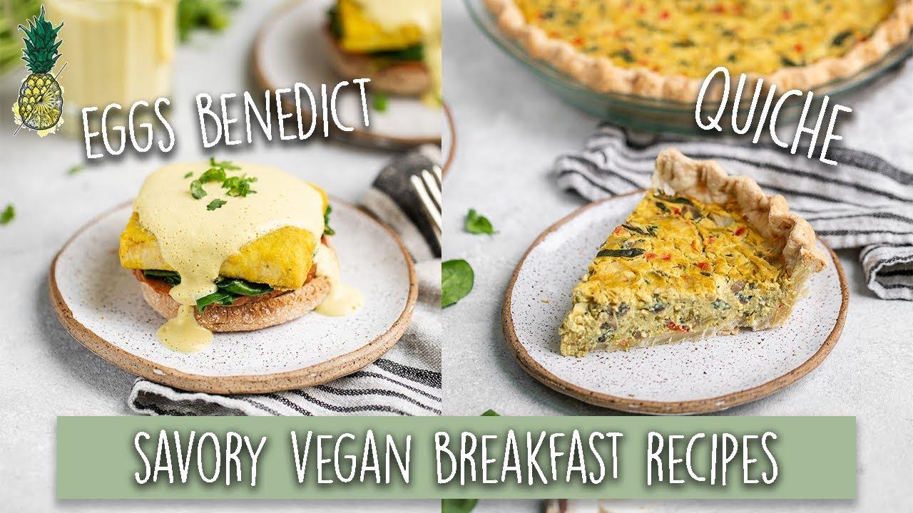 Savory Vegan Breakfast Recipes | Cooking Challenge Chris vs. Jasmine