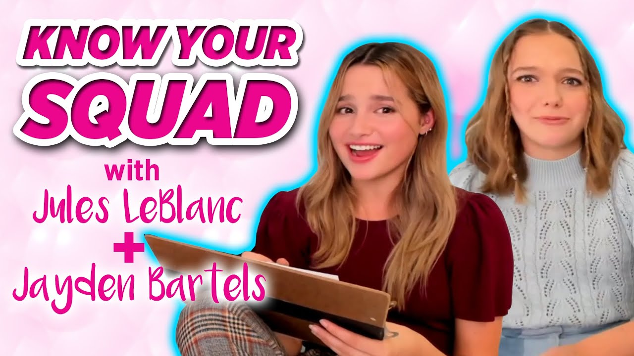 Side Hustle Stars Jules LeBlanc and Jayden Bartels Play Know Your Squad