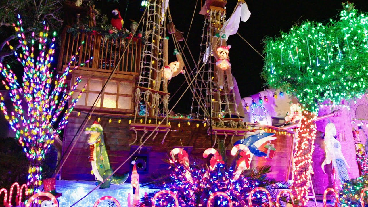 Christmas Lights Fight 2020 A Homemade Pirate Ship Earns Torres Family The Win   The Great