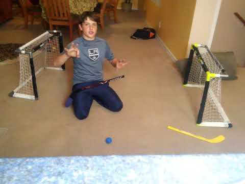 Knee hockey game 1. First to 3 full body checking. Sorry about sound didn't work.
