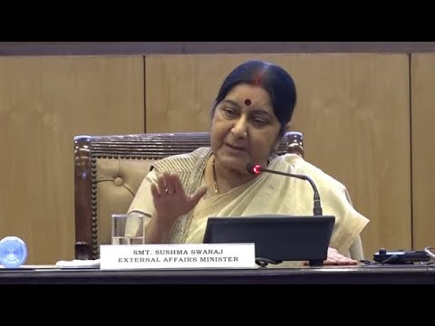 Press Conference by Union Minister Sushma Swaraj on key initiatives during 4 years of Govt.
