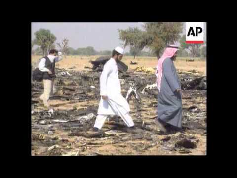 India - Aftermath of air crash