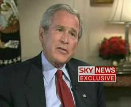 President George W Bush interview (Part 1)