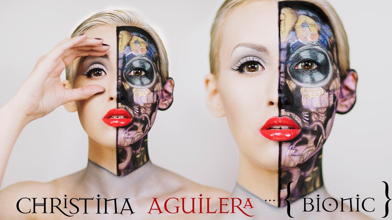 Christina Aguilera Bionic Inspired Makeup Nyx Face