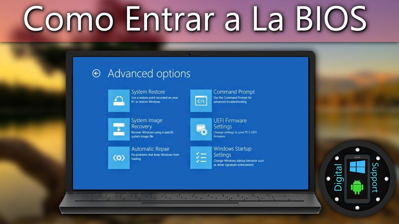 Como Entrar a la BIOS (Windows 8, 8 1, 10) Toshiba TAMBIÉN FUNCIONA PARA  OTRAS MARCAS