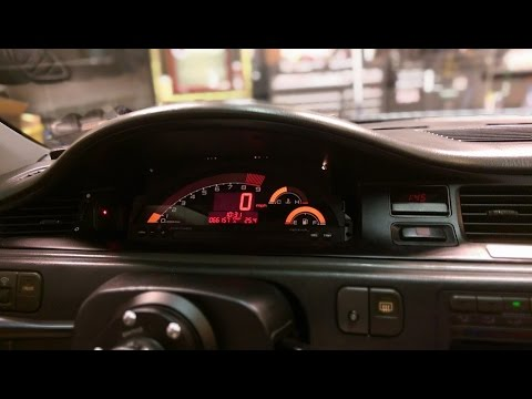 Honda Civic 2016 Interior >> S2000 gauge cluster install HSG EP. 3-04 - YouTube