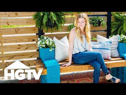 DIY Budget-Friendly Cinderblock Bench - HGTV Happy