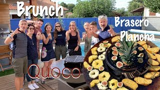 Brunch au barbecue brasero plancha Quoco