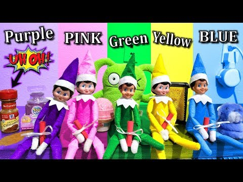 Buying Anything In Your Color! Sparkles Gets Touched, Again!!! Elf On The Shelf Day 12!!