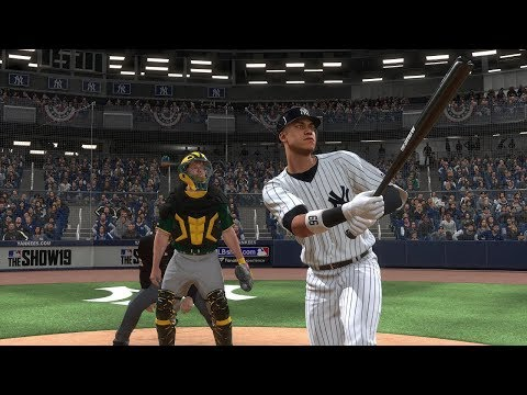 MLB The Show 19 Gameplay - New York Yankees Vs Oakland Athletics Postseason Mode – Full Game MLB 19