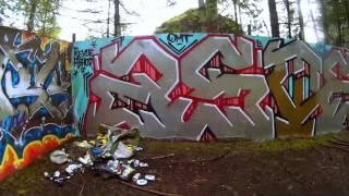 Hike to abandoned water tower/tank and building foundation. Spokane Washington