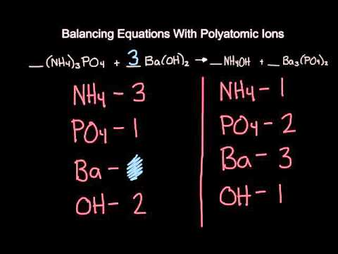 Balancing Equations With Polyatomic Ions