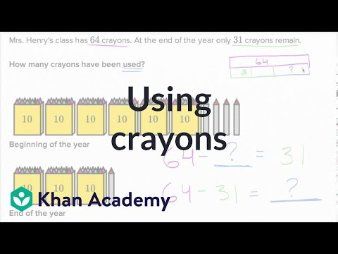 Using Crayons | Addition And Subtraction Within 100 | Early Math | Khan Academy