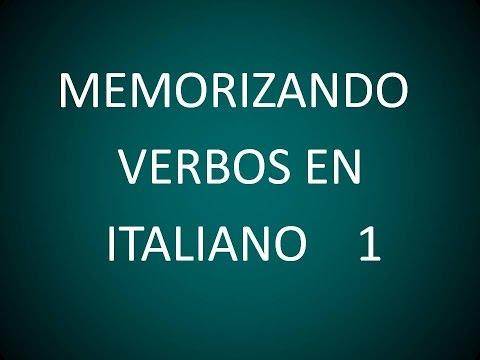 Italiano - Memorizando Verbos 1 (Lección 50)