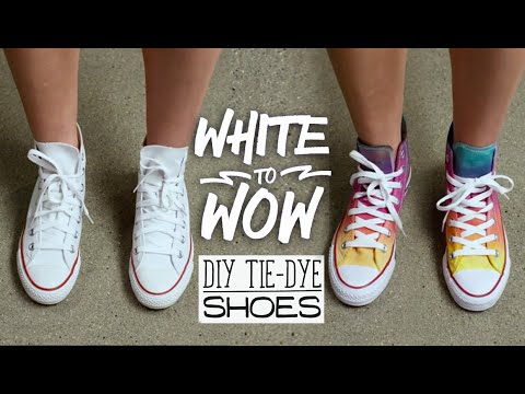 White to Wow: DIY Tie-Dye Shoes - YouTube