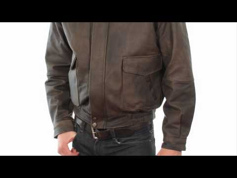 1515 USA Leather 'Classic Aviator' Mens Brown Leather Jacket At LeatherUp.com