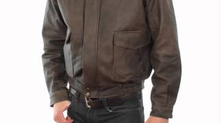 1515 usa leather classic aviator mens brown leather jacket at leatherup com