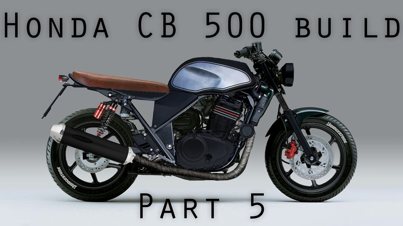 honda cb 500 brat style cafe racer part5 tank painting. Black Bedroom Furniture Sets. Home Design Ideas