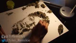 Wiz Khalifa Drawn In Weed Amnesia Haze (By Tyler Remikie)